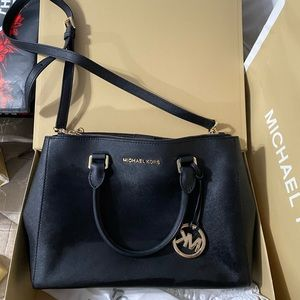Black MK Satchel Purse